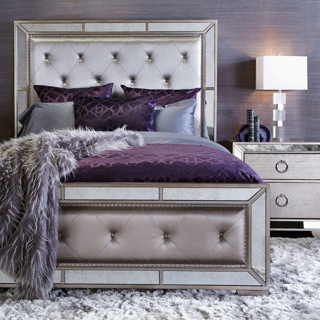 Sleep like royalty with our ava bed contemporary for Romantic purple master bedroom ideas