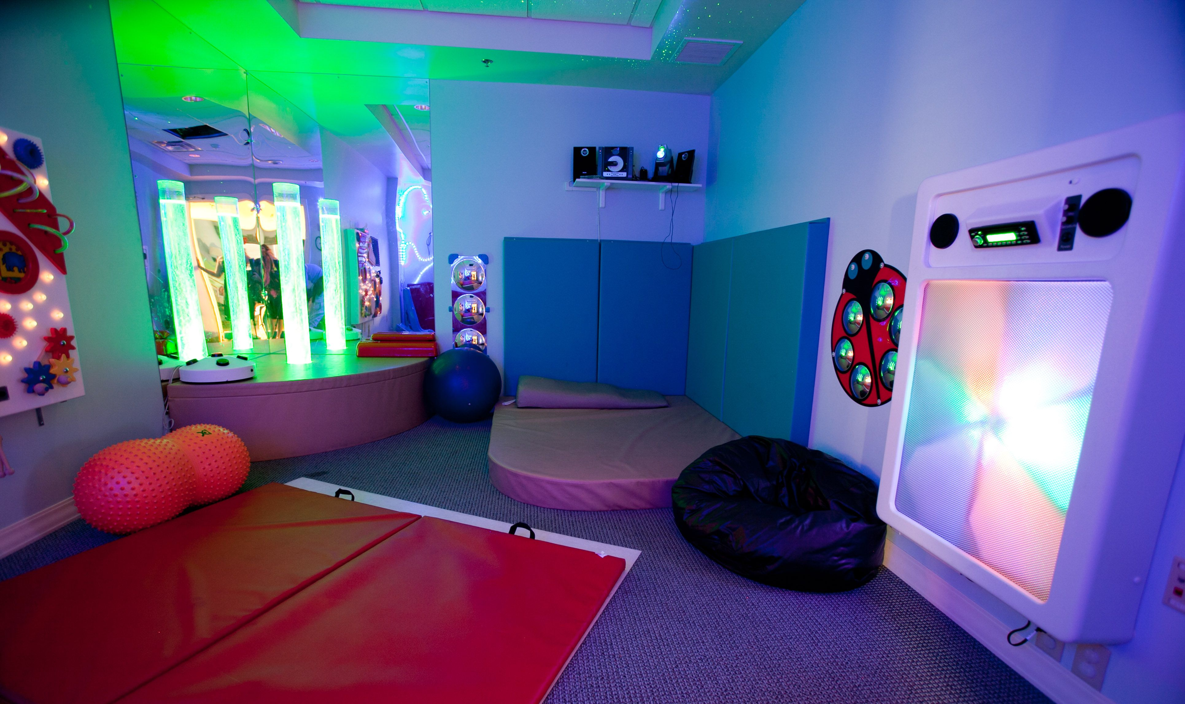 Colgate And Champion For Kids Simple Service Project At The Ryan House Brie Brie Blooms Sensory Room Autism Sensory Bedroom Sensory Rooms