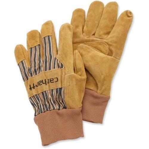 Carhartt Men/'s Cowhide Leather Work Garden Glove Safety Cuff Brown Small NEW!