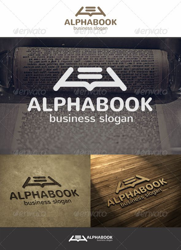 Alpha Book Logo Book Logo Logo Design Template Education Logo