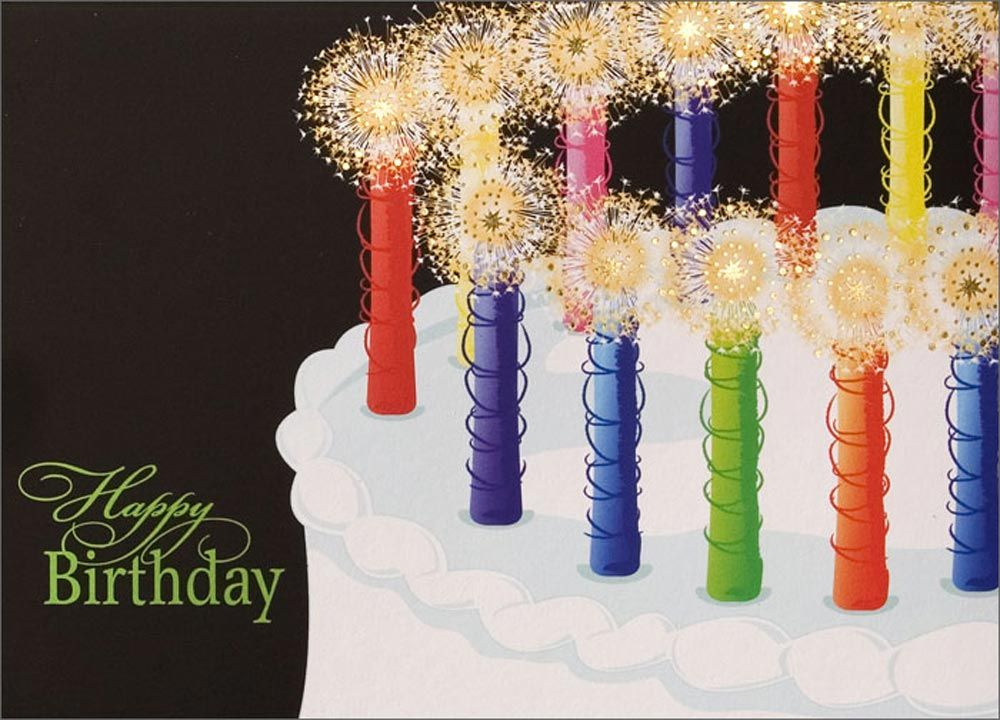 Sparkling Candles Birthday Card