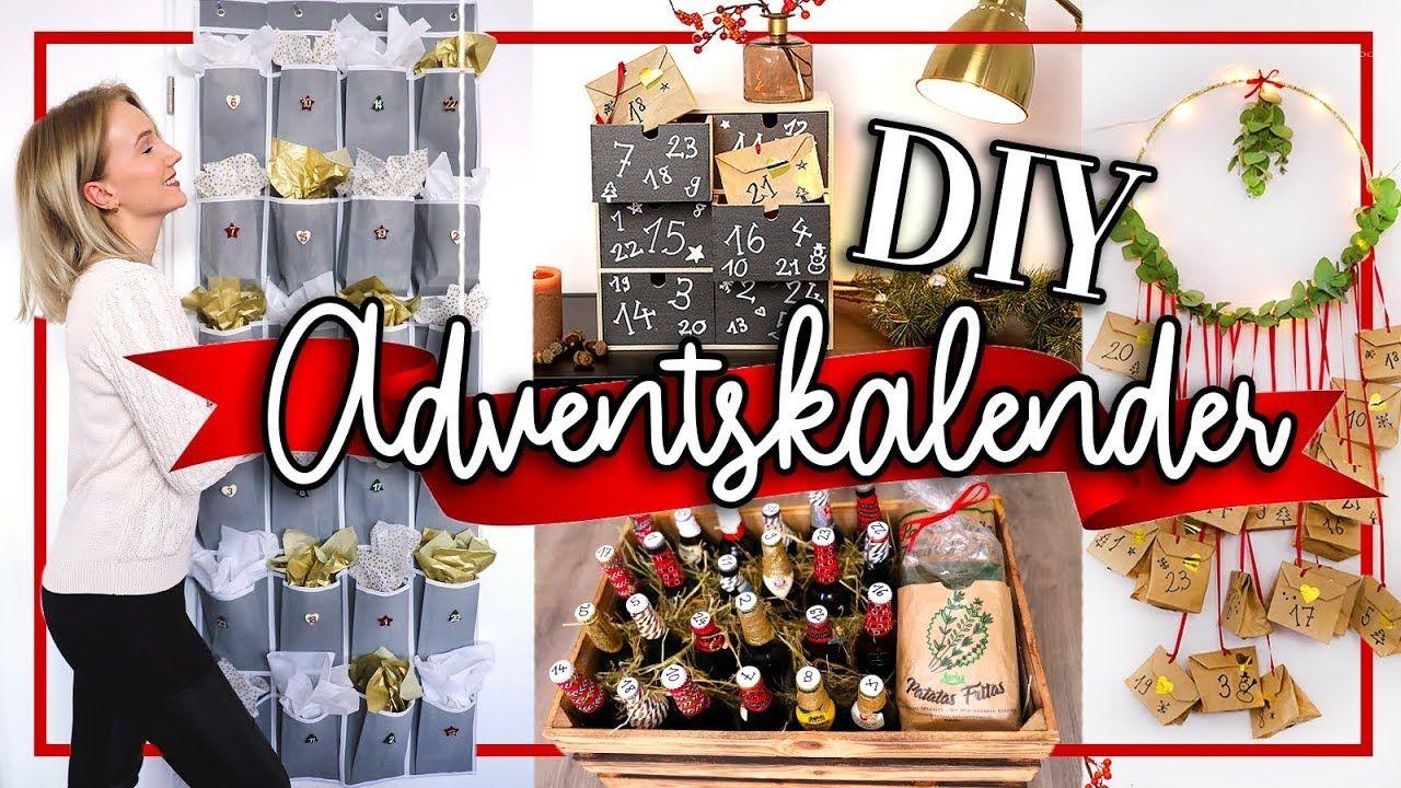 4 GENIALE DIY Adventskalender! EINFACH & SCHNELL Darüber