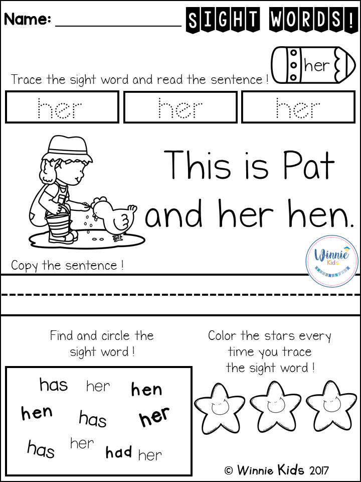 Free Sight Words Fluency Practice 5 Fun Worksheet For Prek And Kindergarten Sight Word Fluency Sight Words Teaching Sight Words