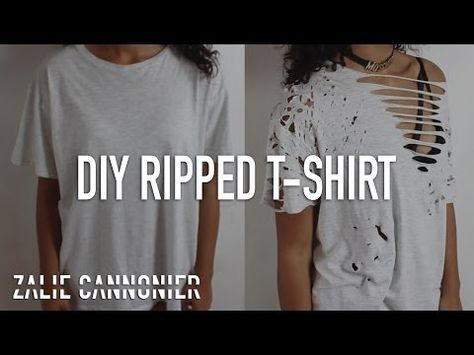 9409edeec1a3 DIY Distressed   Bleached T-Shirts for Summer! ☼ Inspired by Tumblr! -  YouTube
