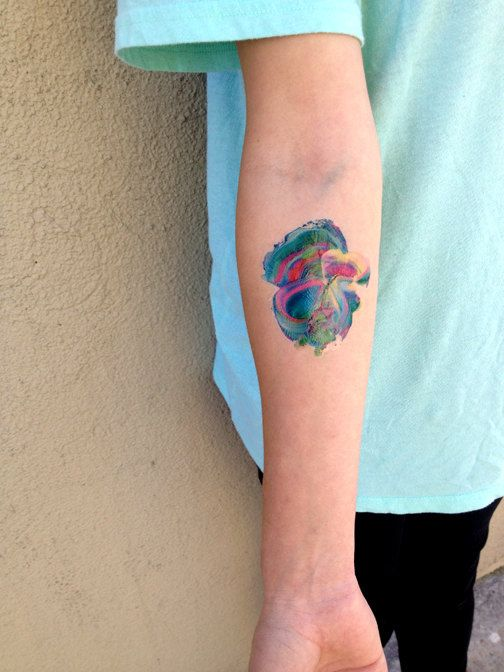 paint swirl temporary tattoo from Mia Christopher