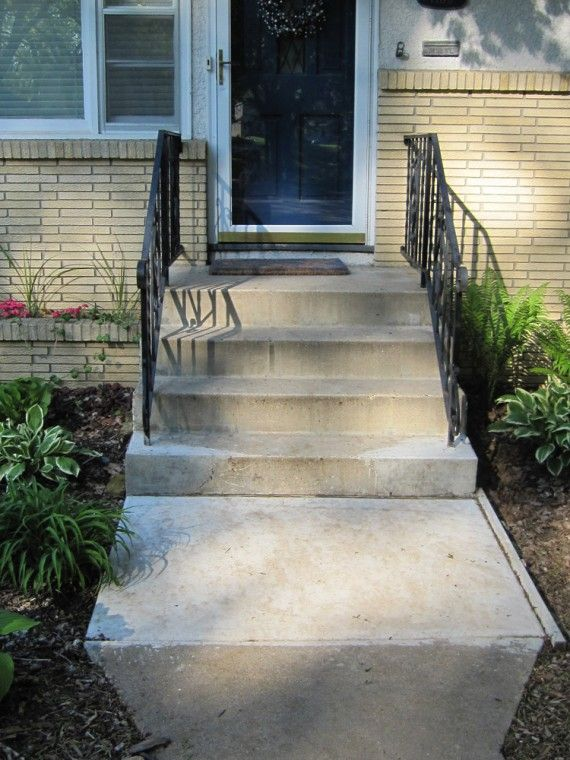 Best Concrete Stair Repair Diy House Projects Front Steps 400 x 300