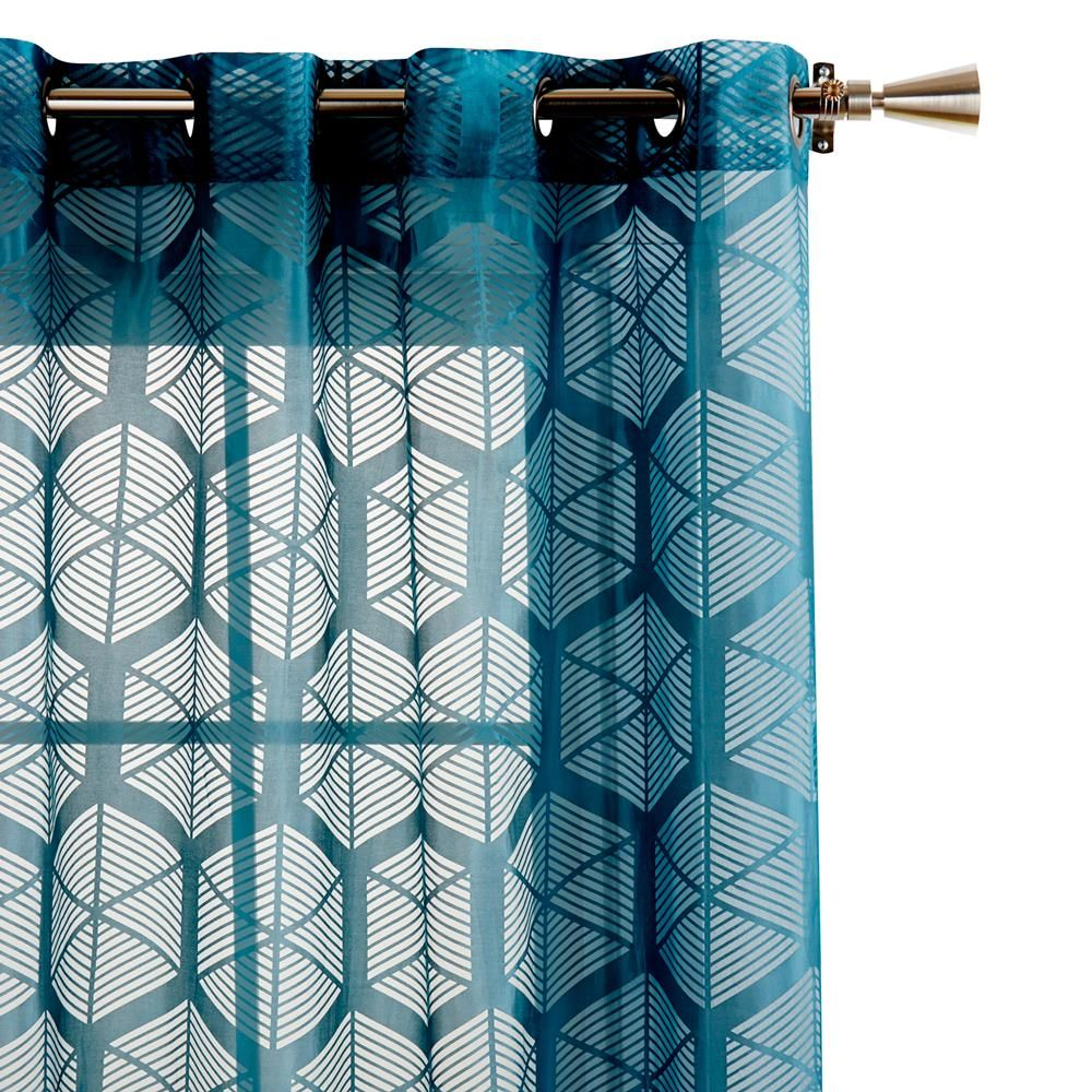 moselle burnout sheer curtain