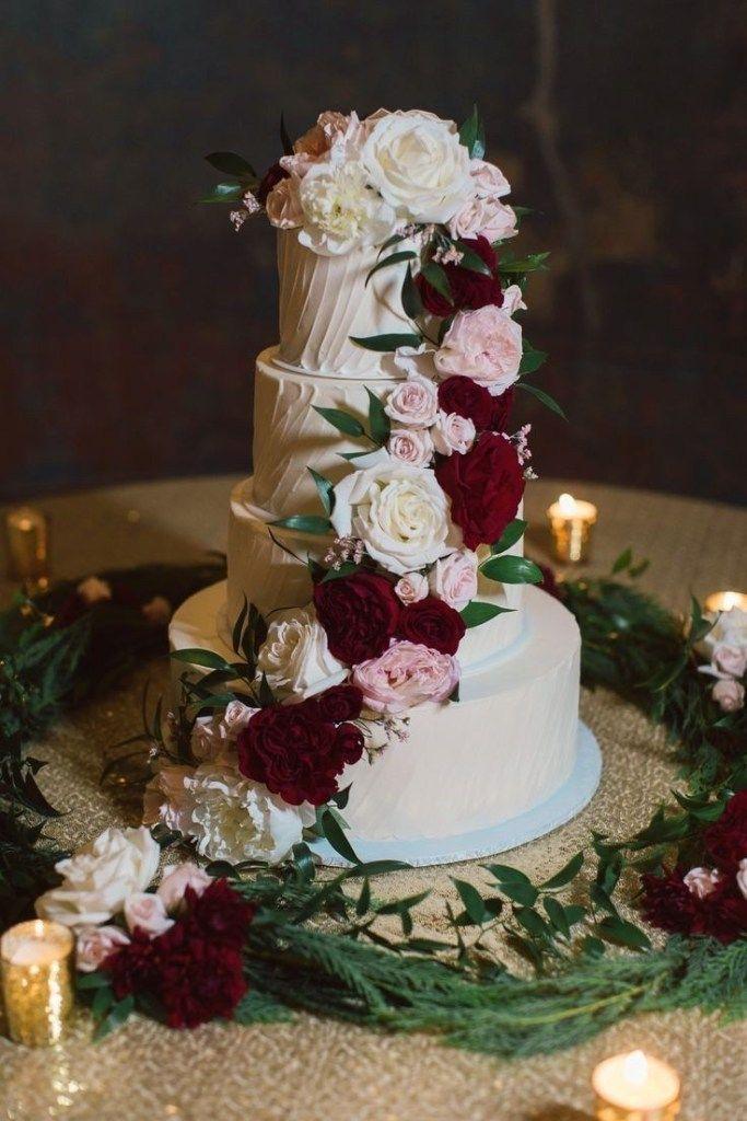 ❤55 simple, elegant, chic wedding cakes 46