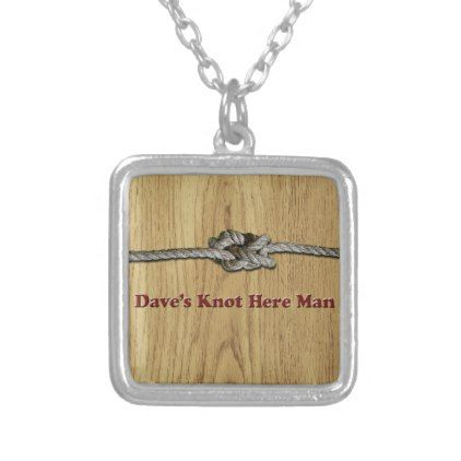 #fishing - #Dave's Knot Here Man - Multi-Products Silver Plated Necklace