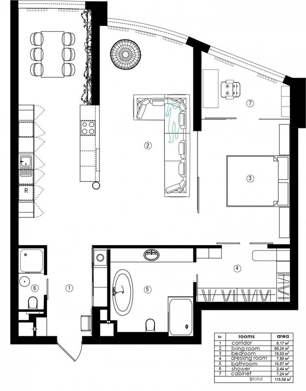 Warehouse Style Loft With Stunning Visual Appeal Loft Apartment Industrial Loft Floor Plans Loft Apartment