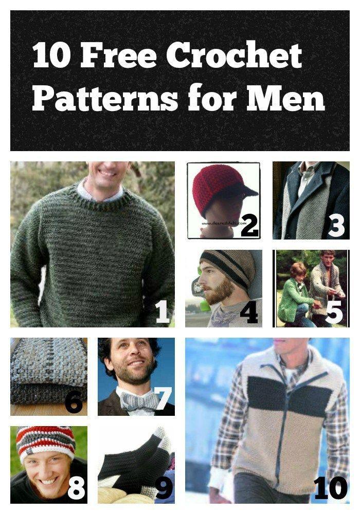 10 Free Crochet Patterns For Men Free Crochet Crochet And Patterns