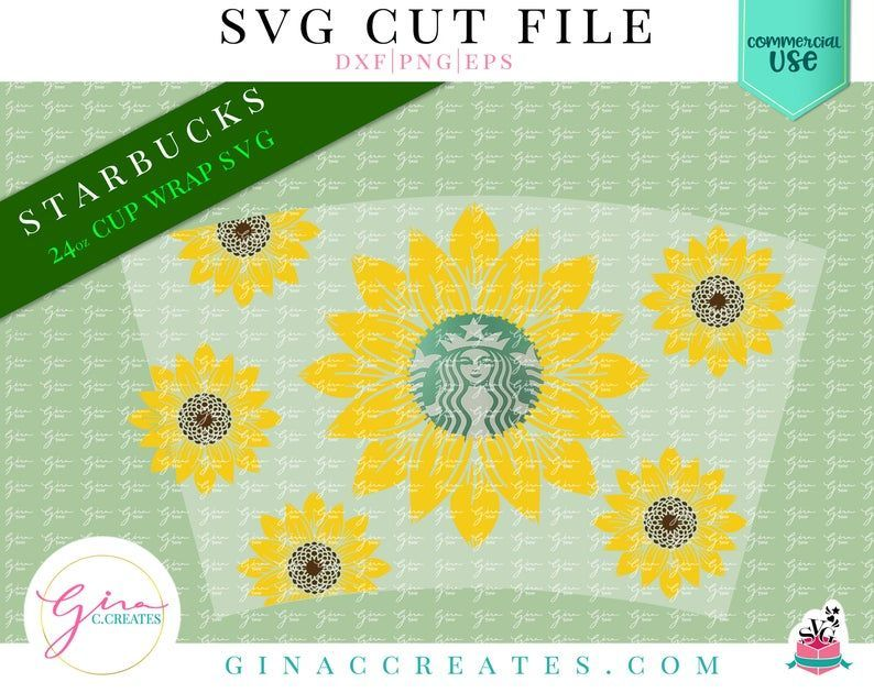 Sunflower Wrap Svg Starbucks Cup Wrap Svg Etsy In 2021 Cup Wrap Starbucks Cups Svg