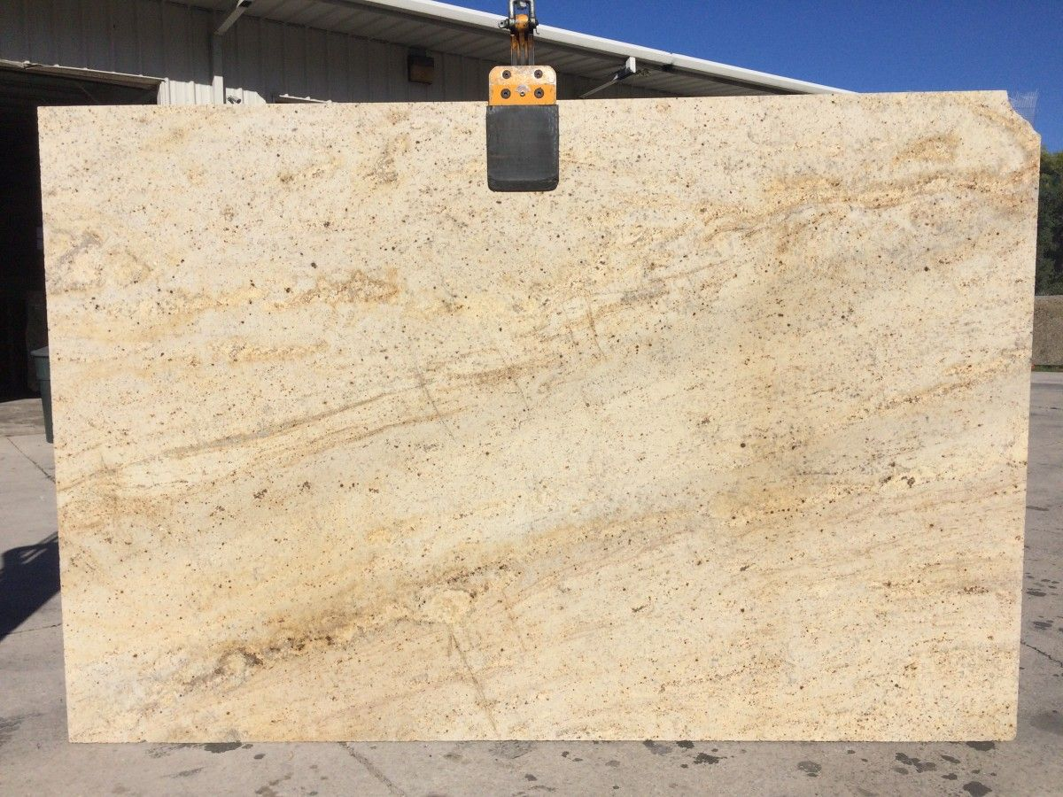 Colonial Cream Granite Is A Blend Of Gold And Yellow With Cream