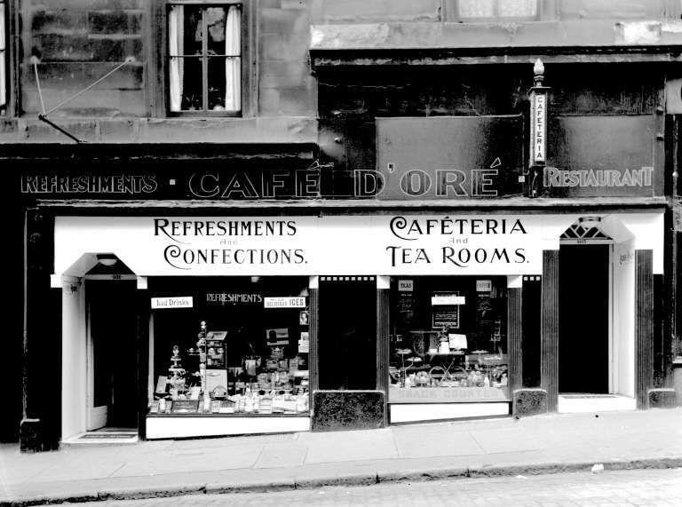 Dundas Street Glasgow 1930? Tea room, Glasgow, Italian bar