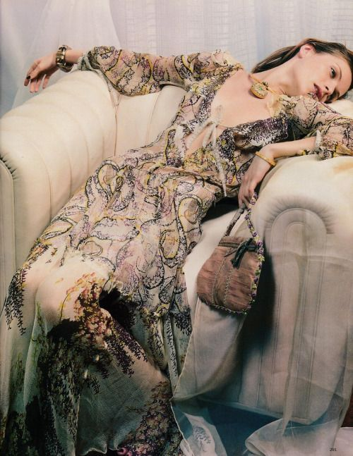 """""""Night Watch"""" Rie Rasmussen photographed by David Slijper for Vogue UK December 2002 Fashion Editor: Charlotte Stockdale Hair: Michael Boadie Makeup: Petros Petrohilos #inspiration #blog #blogger #tumblr #fashion #style #models #photography #vogue http://www.midnight-charm.com/"""