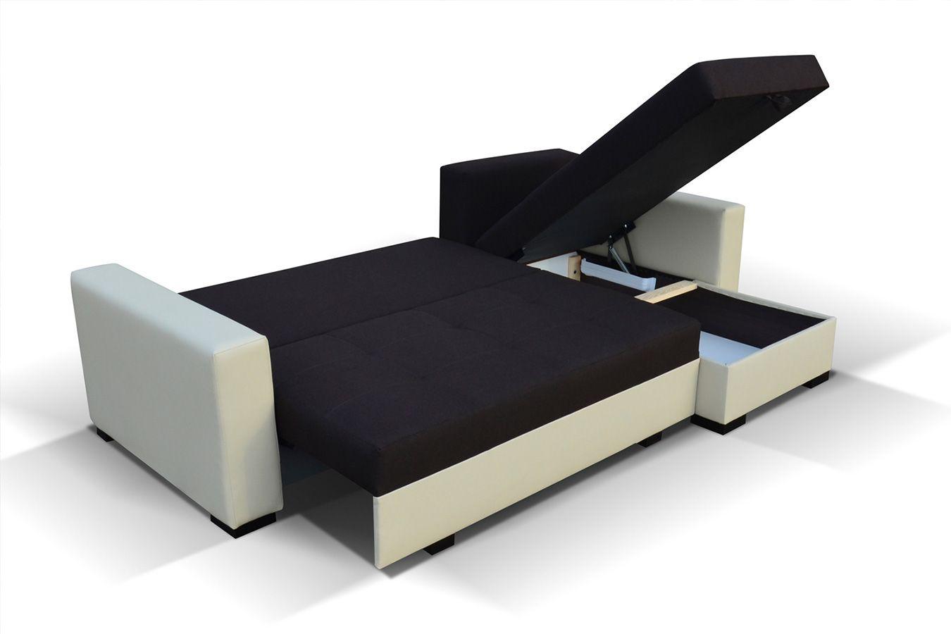 Meuble De Salon Canape Canape D Angle Noir Et Blanc Sofamobili Canape Angle Canape Angle Convertible Canape Angle Noir