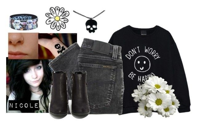 """""""~Nicole"""" by lukeimbatman ❤ liked on Polyvore featuring Nudie Jeans Co., N.Y.L.A. and Disney"""