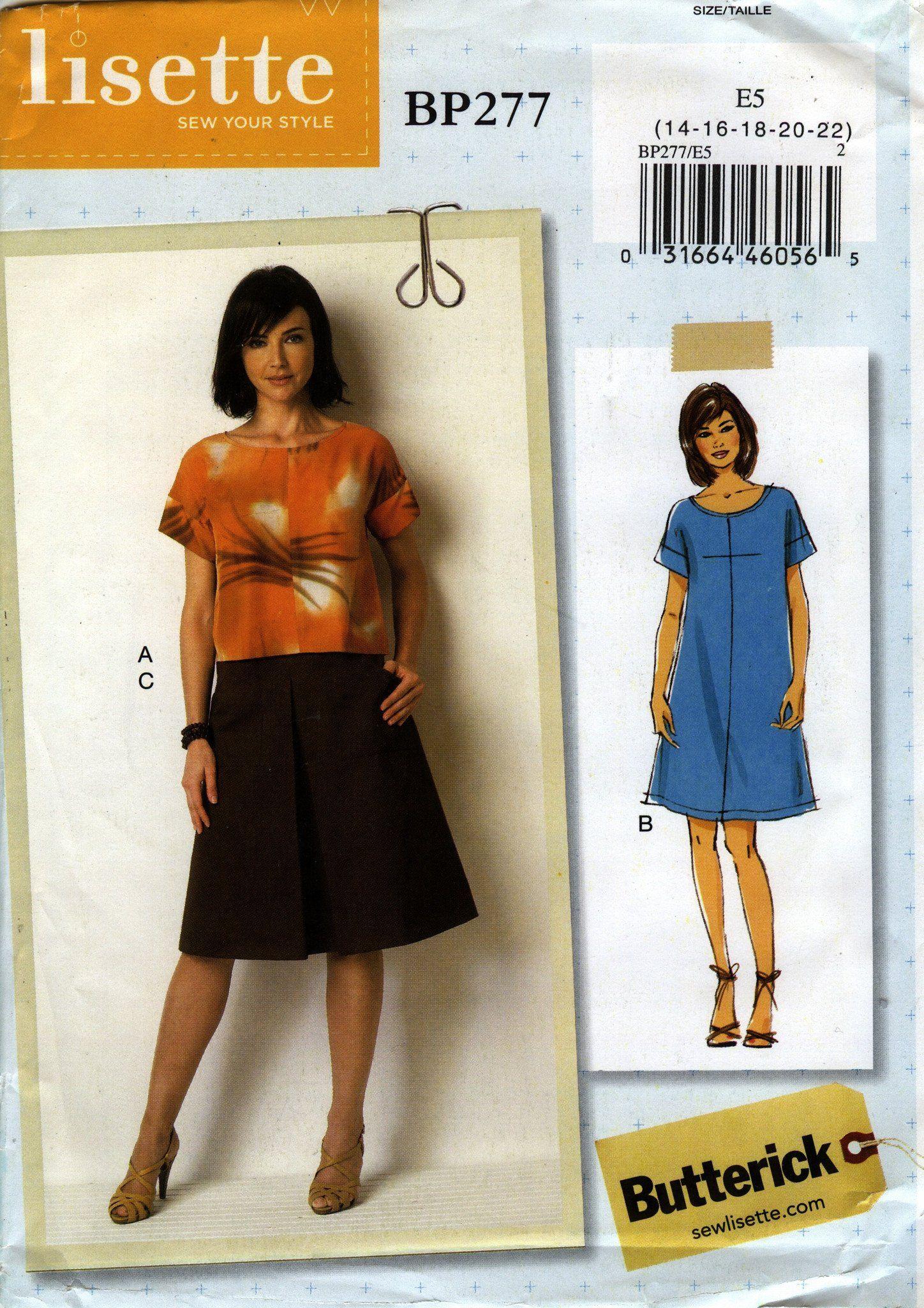 Butterick B6526 Lisette PATTERN Misses Top /& Pants Sizes 6-22 New