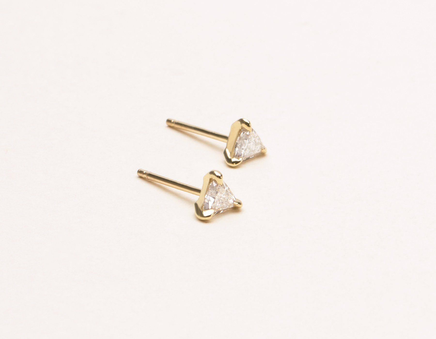 Round Diamond Stud Earrings 1 4 ct tw in 14K Rose Gold