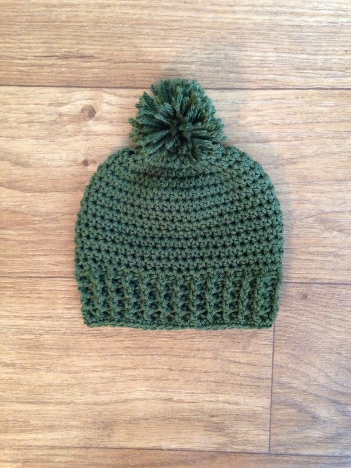A personal favorite from my Etsy shop https://www.etsy.com/listing/213035964/crocheted-beanie-with-pom-pom-newborn