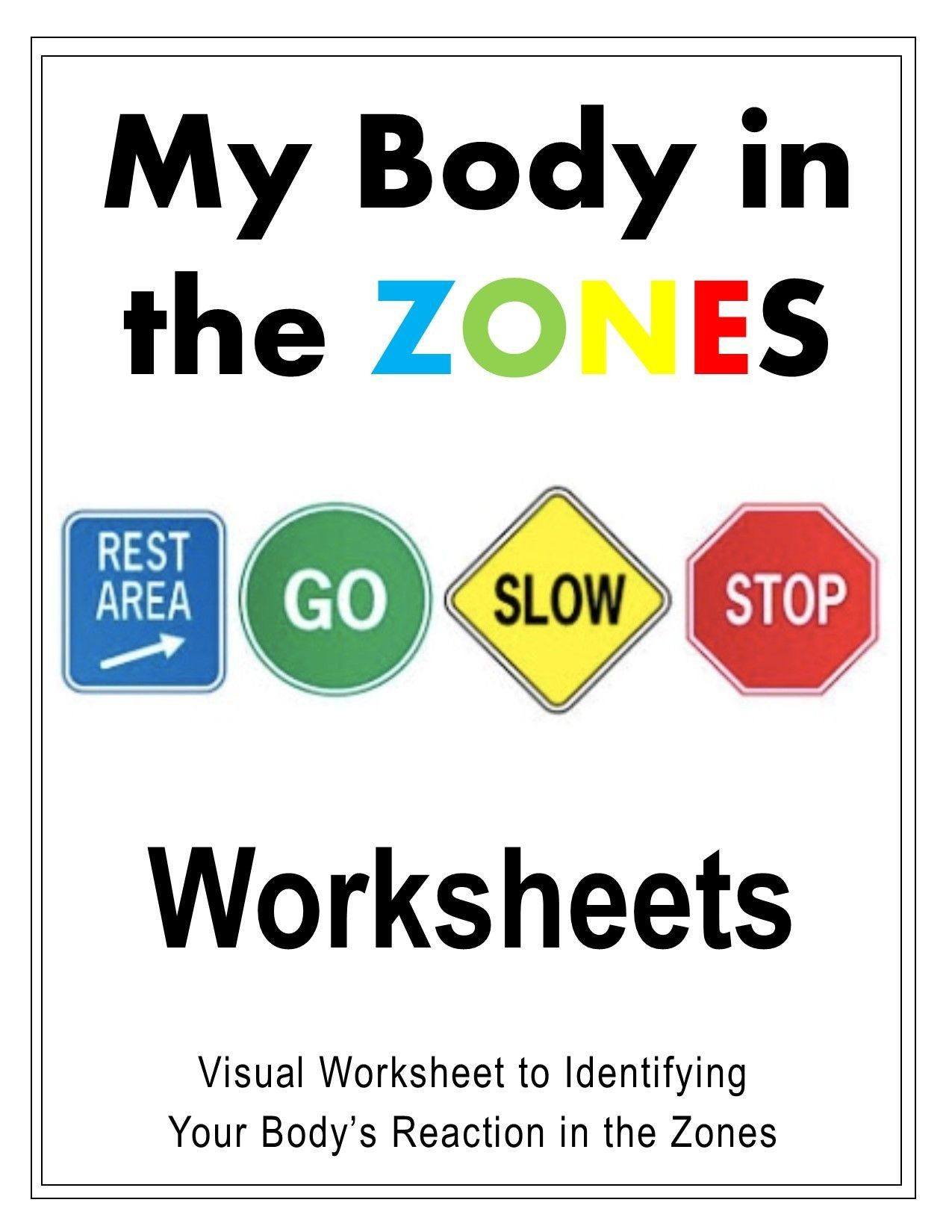 Zones Of Regulation Worksheet My Body In The Zones