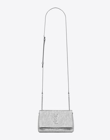 e8ba09ca8e03 SAINT LAURENT Toy West Hollywood Bag In Silver Metallic Leather.   saintlaurent  bags  shoulder bags  leather  metallic
