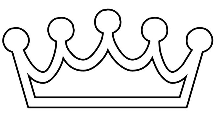 Princess Crown Printable Coloring Pages Castles And Medieval Pint Clipart Best Clipart Best Crown Clip Art Crown Printable Crown Template
