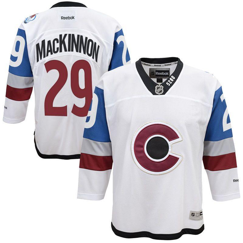 premium selection 6831b 87605 Nathan MacKinnon Colorado Avalanche Reebok Youth 2016 ...