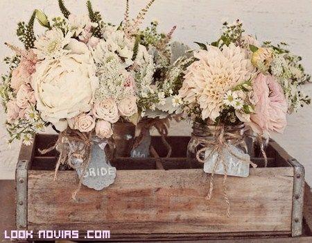 Decoracion vintage arreglo flores vintage pinterest - Decoraciones bodas vintage ...