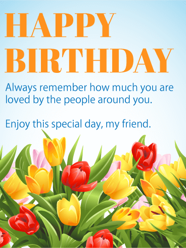 Enjoy This Special Day Happy Birthday Wishes Card For Friends