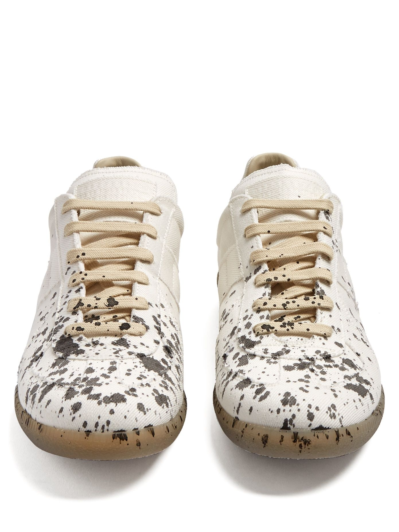 6588fdc2955 Replica low-top ink-effect canvas trainers | Maison Margiela ...