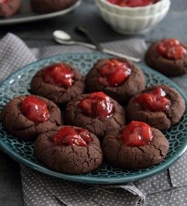 Tart Cherry Fudge Thumbprints