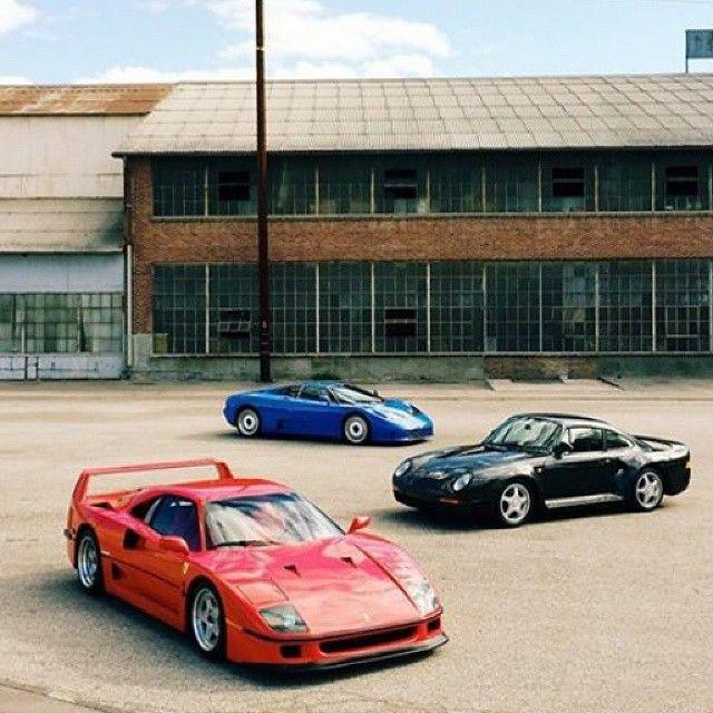 Ferrari F40 Vs Bugatti EB110 Vs Porsche 959