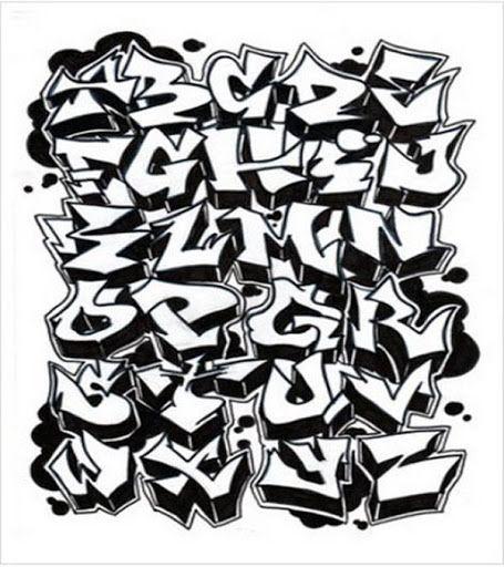 Graffiti Alphabet A Z 3D Stylejpeg 455x512