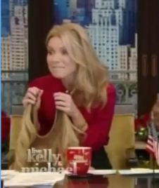 Kelly ripa taking out her halo couture extensions on her show kelly ripa taking out her halo couture extensions on her show pmusecretfo Gallery