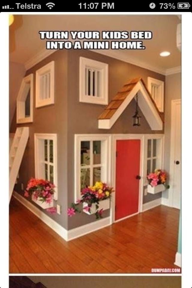 Turn Your Kids Bed Into A Mini House Play Houses Awesome