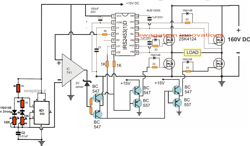 3kva Transformerless Inverter Circuit | Projects to try