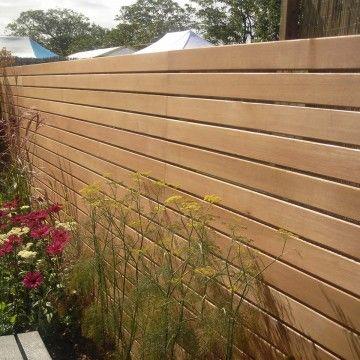 Horizontal Slatted Fence Add Ed Slats As Lattice Over The 6 Mark