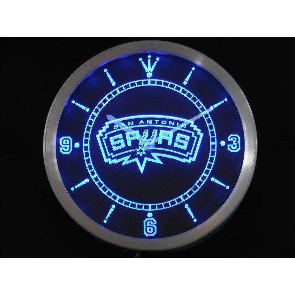 San Antonio Spurs Neon Sign Led Wall Clock Led Wall Clock Neon Signs Led Clock