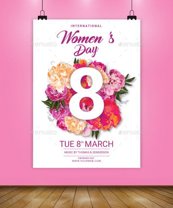 International Womens Day Flyer Template Flyer template, Flyer - grand opening flyer template