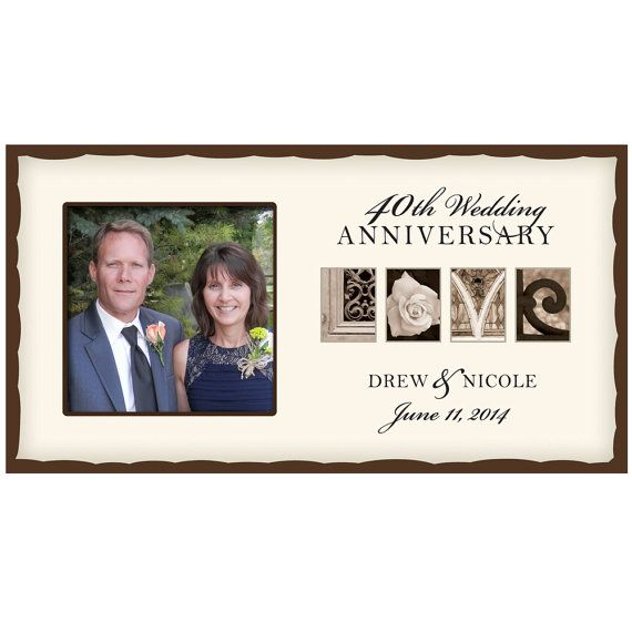 Personalized Wedding Love photo frame 40th Wedding Anniversary ...