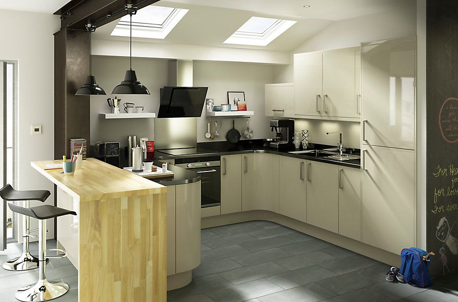 Best It Santini Gloss Grey Slab Diy At B Q For The Home 400 x 300