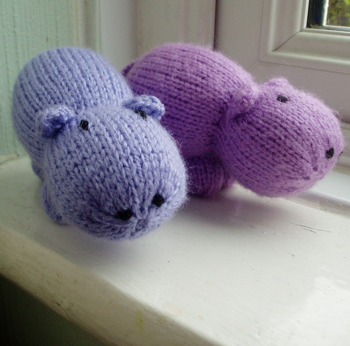 Free Knitting Pattern for Mini Hippo | Projects for Knitting -Toys ...