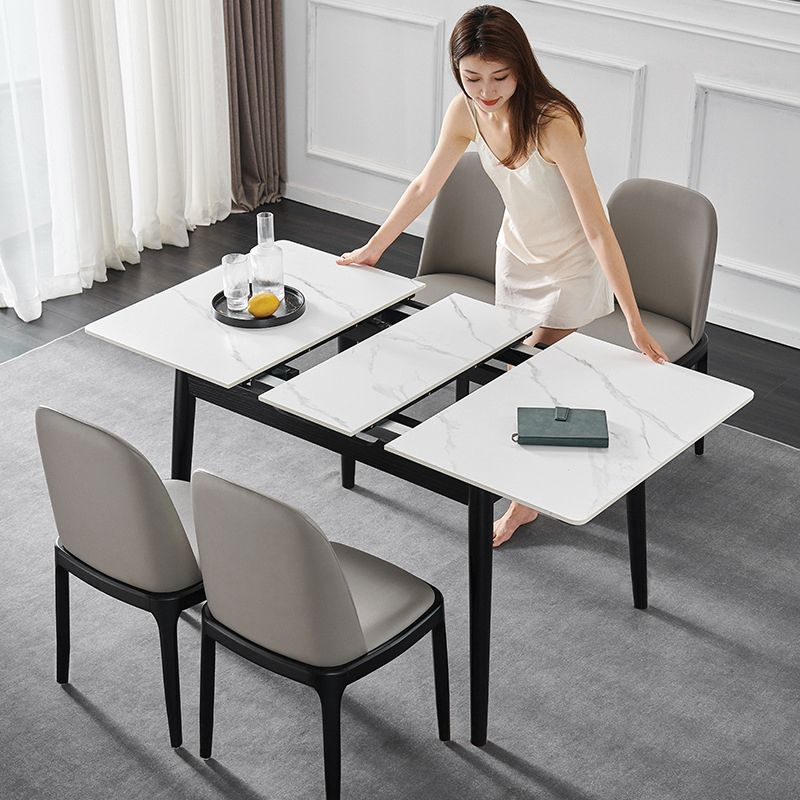 White Horse Stone Extended Dining Table