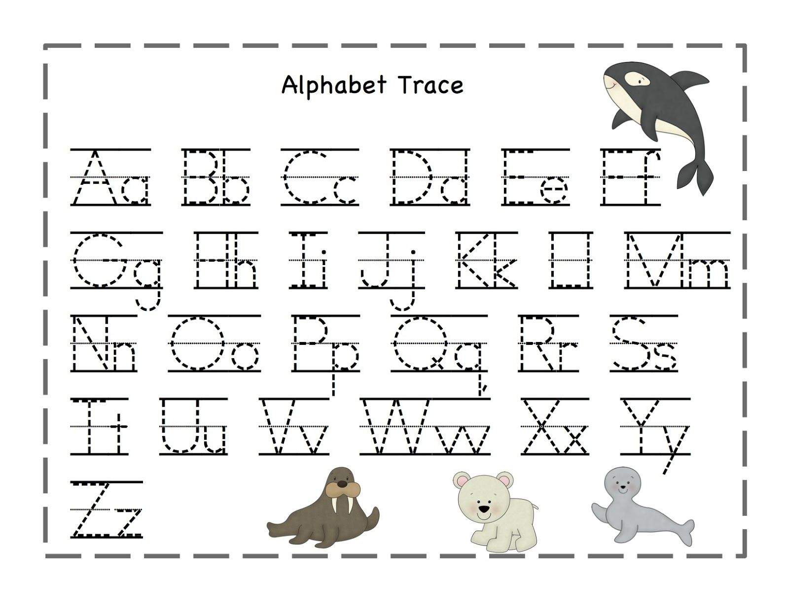 preschool printables arctic freeze printable alphabet alphabet tracing abc tracing. Black Bedroom Furniture Sets. Home Design Ideas