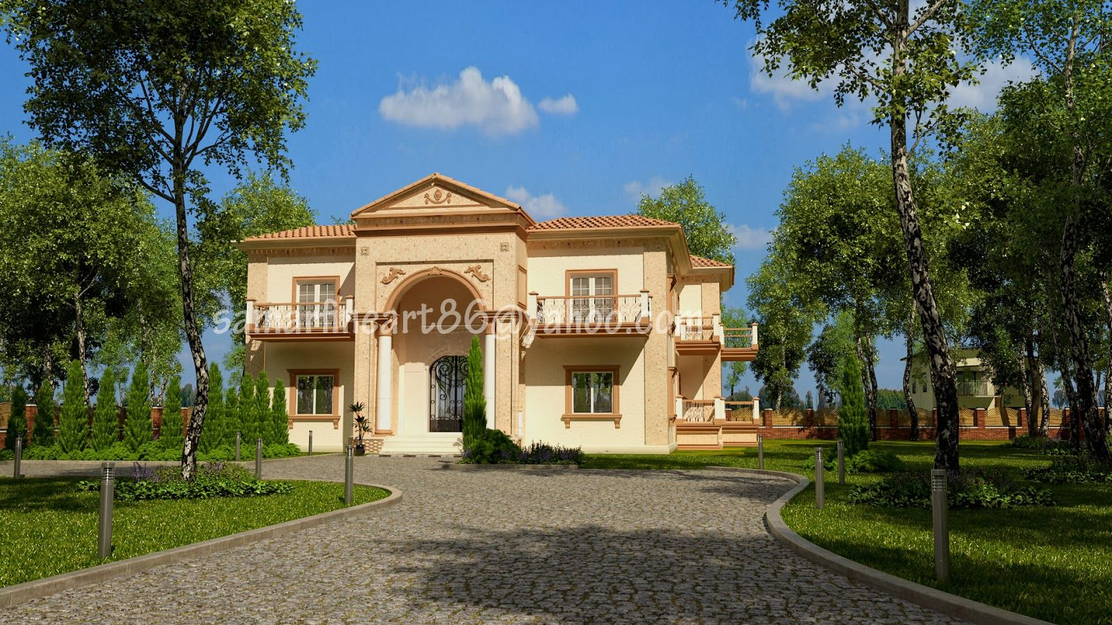 Summer Fouad Egyptian Architect: my design of a claasic villa #decor #residential #...