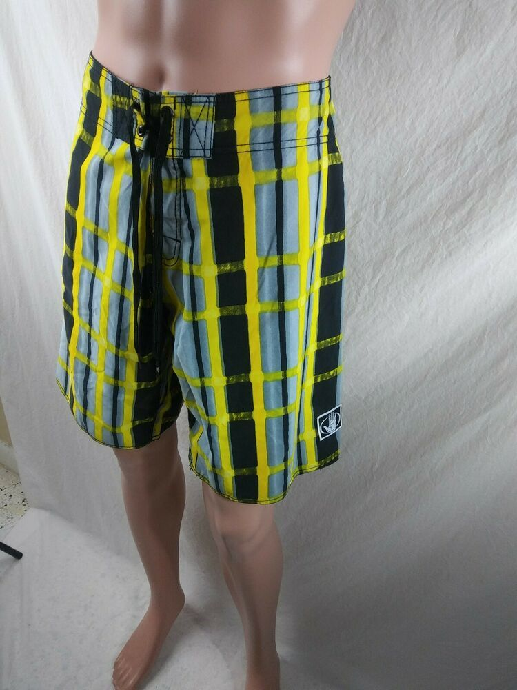 71ea23513fd72 Body Glove Men's Size 34 Swim Trunks Board Shorts Green Plaid #BodyGlove  #BoardShortsSwimTrunks