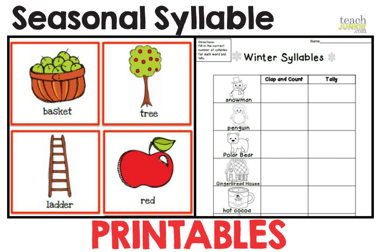 Syllables - 8 Easy to Print Activities | Pinterest | Syllable ...