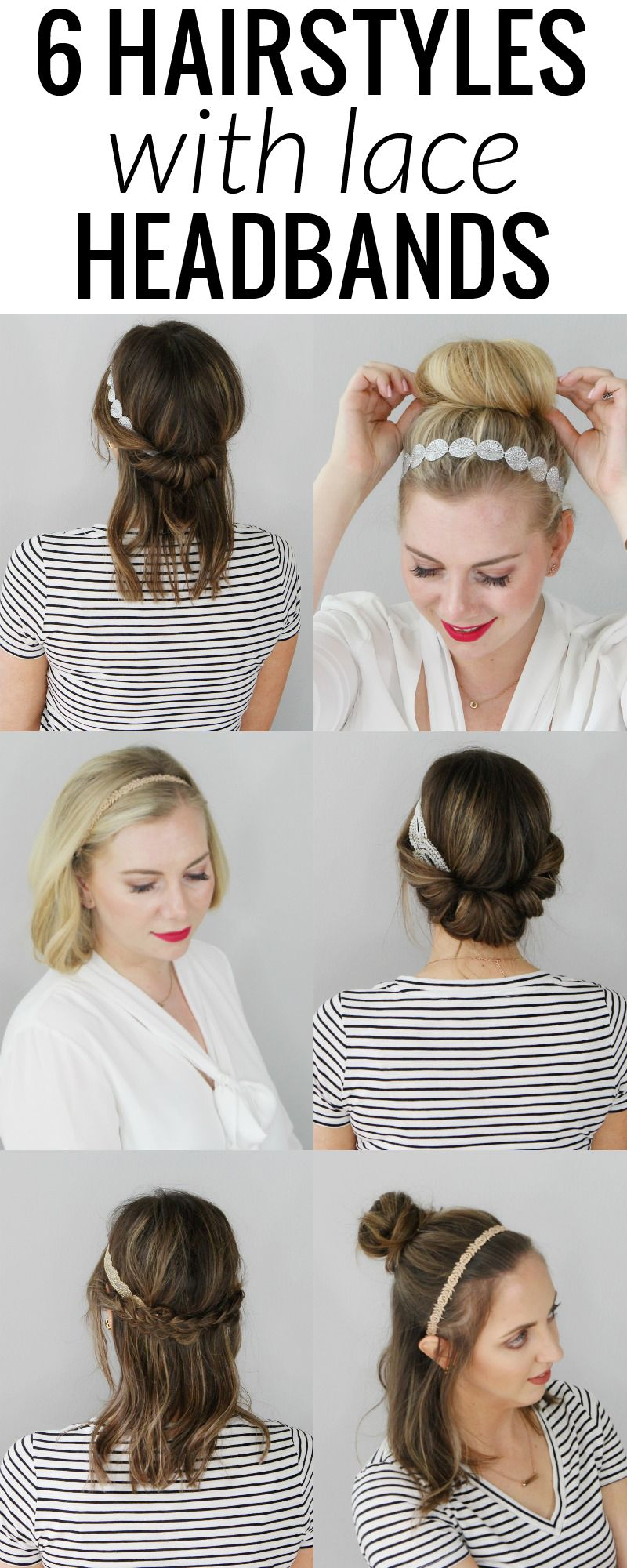 hairstyles with lace headbands each hairstyle is super chic and