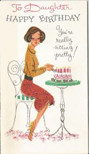 Vintage Daughter Birthday Greeting Card